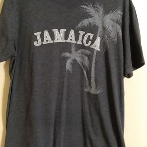 Jamaica gray t-shirt men's large